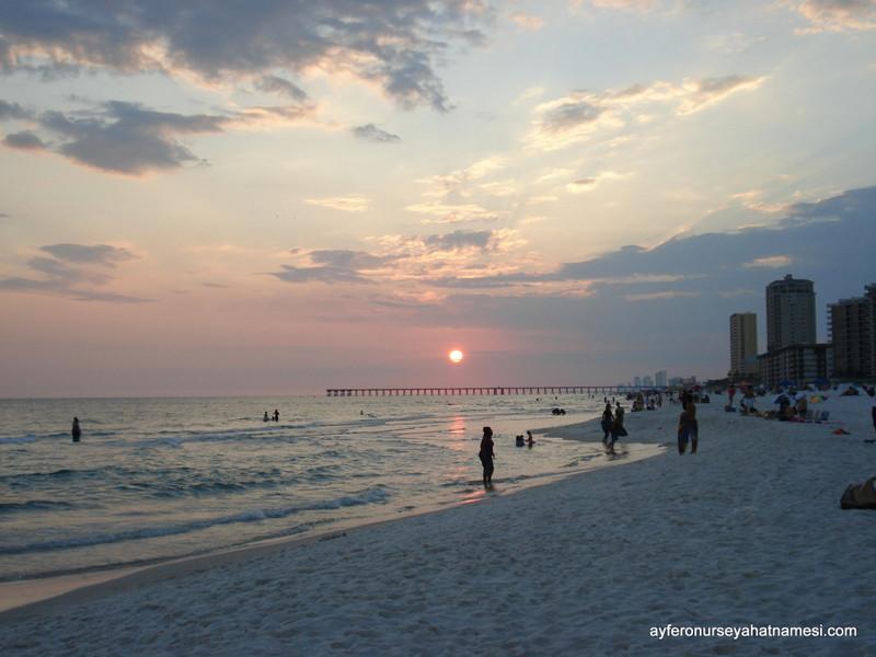Meksika Körfezi'nden Gün Batımı - Panama City Beach