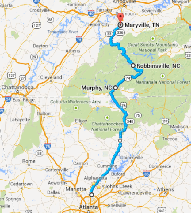 Atlanta to Maryville