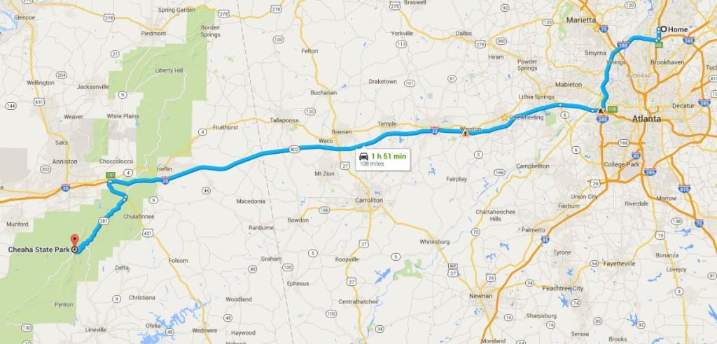 Atlanta-Cheaha State Park- yol