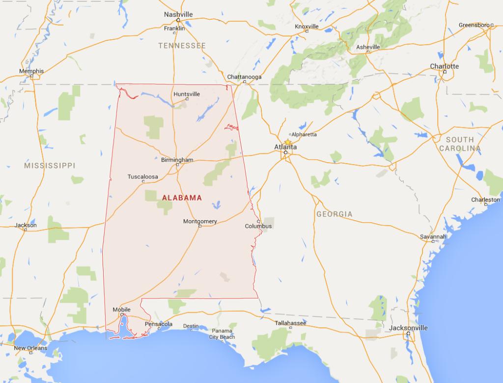Alabama harita