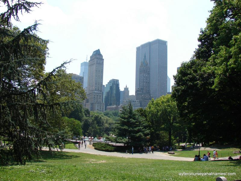 Central Parktan gökdelenlere bakış...