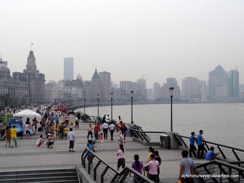 The Bund bölgesi - Şangay