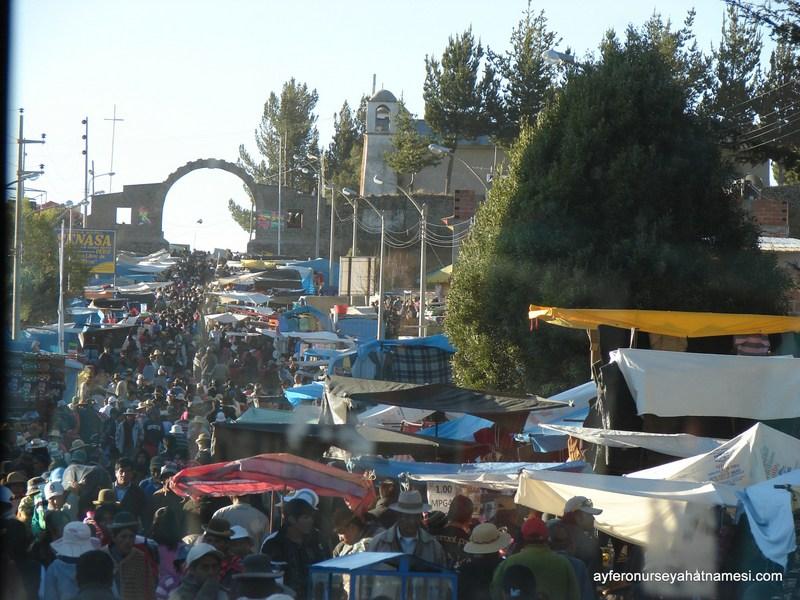 Peru - Bolivya sınırı ve pazar...