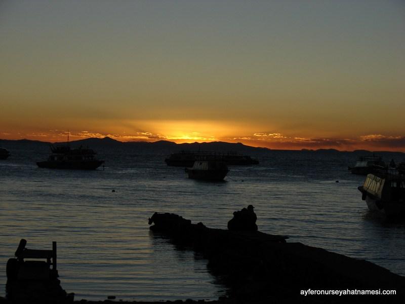 Gün Batımı - Titicaca Gölü, Copacabana