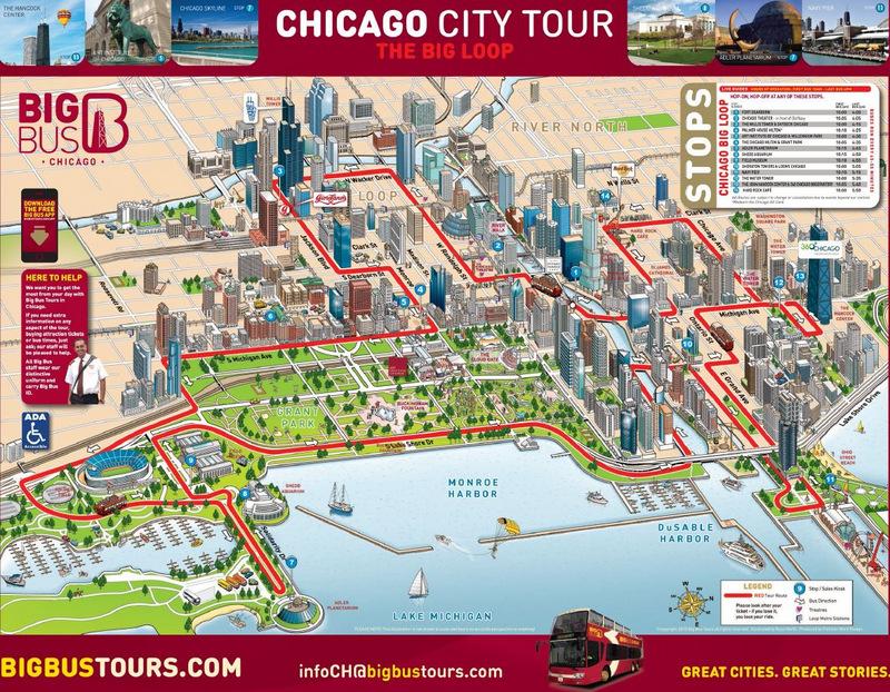 Hop-On Hop-Off otobüs hattının haritası...