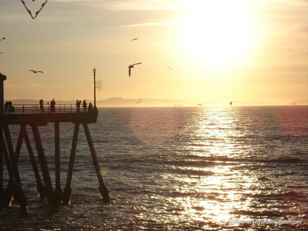 Huntington Plajı'ndan gün batımı...