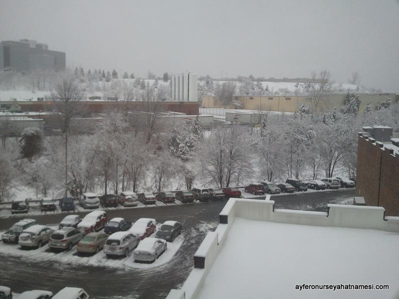 Nisan ayında Boston'da kar süprizi...