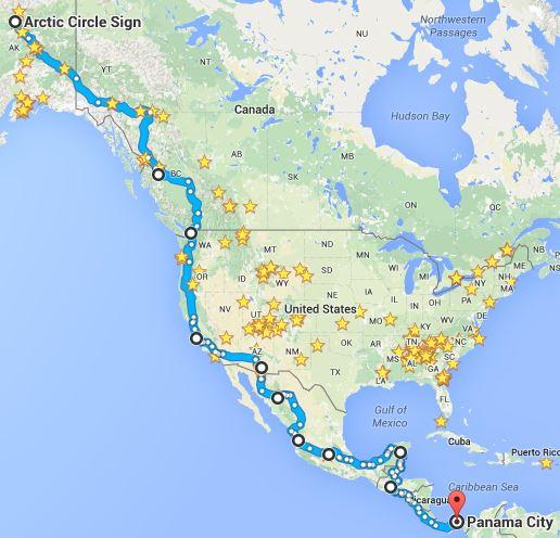 Nord e centro America Route