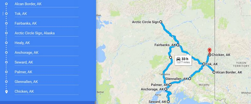 Alcan-Chicken Route - Alaska