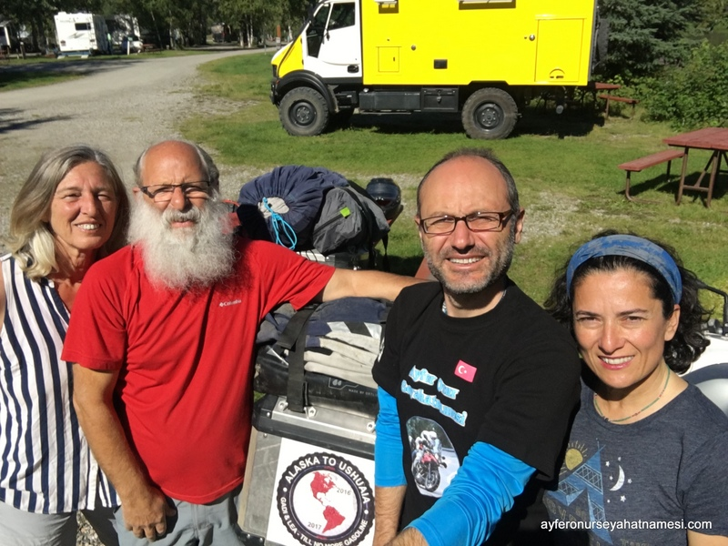 Lea, Gadi and us in Fairbanks-Alaska