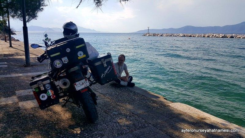Agiokampos Kasabası - Evia Adası, Yunanistan