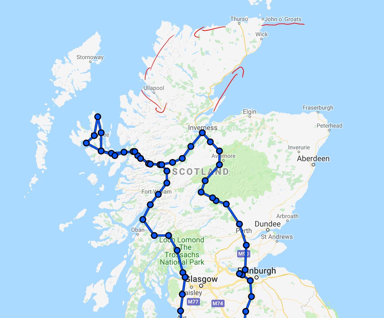 İskoçya rotamız