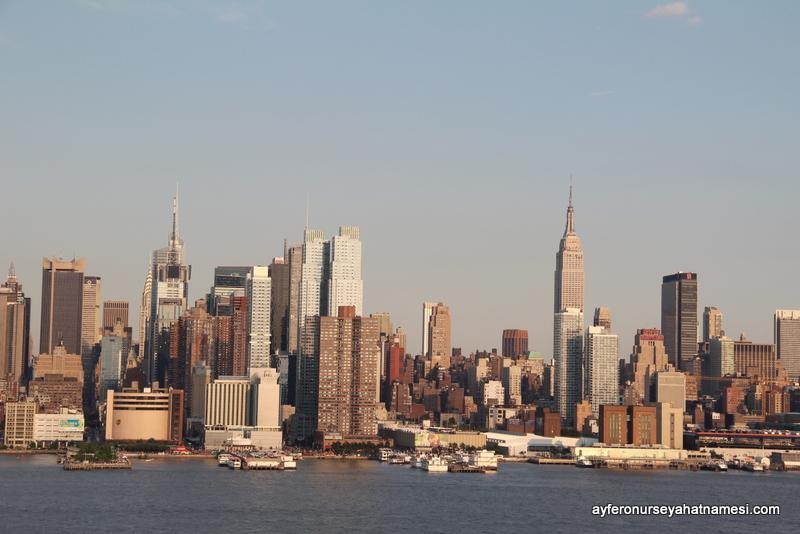 Hoboken'dan Manhattan manzarası
